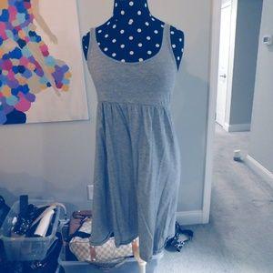 Sleeveless Gray Cotton Dress